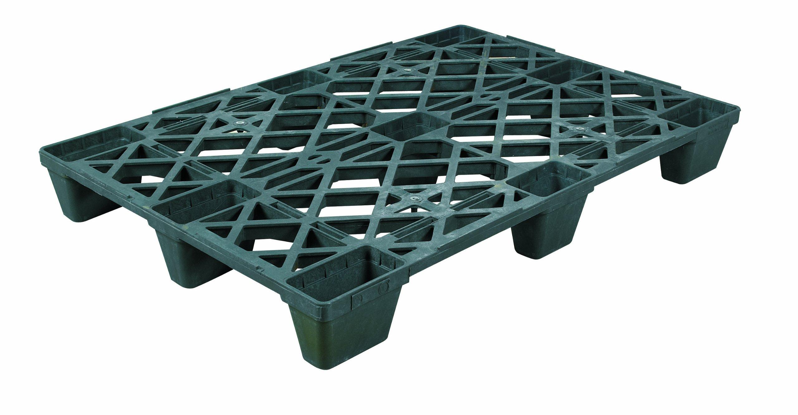 Aviditi CPP210 Industrial Plastic Pallet, 48'' x 32'' x 5 1/2'', Black