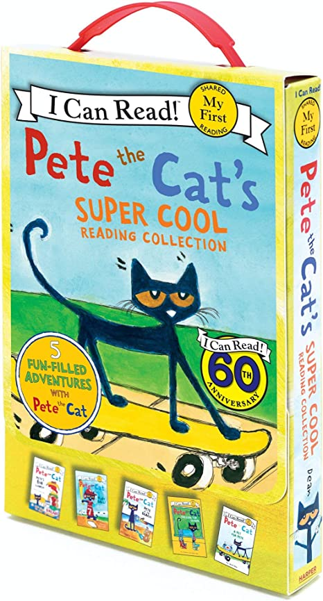 5 Book Set Generic My First I Can Read Pete The Cat Bundle with 14.5 Plush Doll and Pete The Cats Reading Collection