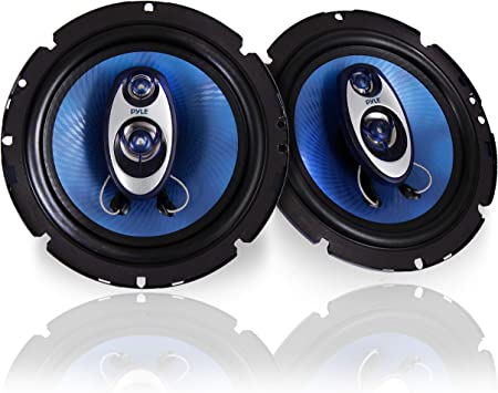 Pyle 4/'/' x 6/'/' Three Way Sound Speaker System Pro Mid Range Triaxial Loud A...