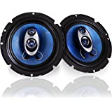 "6.5"" Three-Way Sound Speaker System - 180 W RMS/360W Power Handling w/ 4 Ohm Impedance and 3/4'' Piezo Tweeter for Car…"