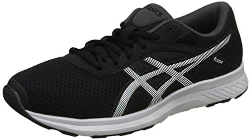 new styles f201d 74f16 ASICS Men s Fuzor Black, White and Dark Steel Running Shoes - 11 UK India