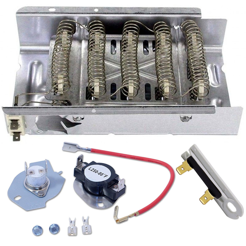Siwdoy 279838 & 279816 & 3392519 Dryer Heating Element Kit for Whirlpool & Kenmore Dryer