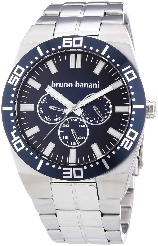 Bruno Banani Herren-Armbanduhr XL Brahma Analog Quarz Edelstahl BR22001