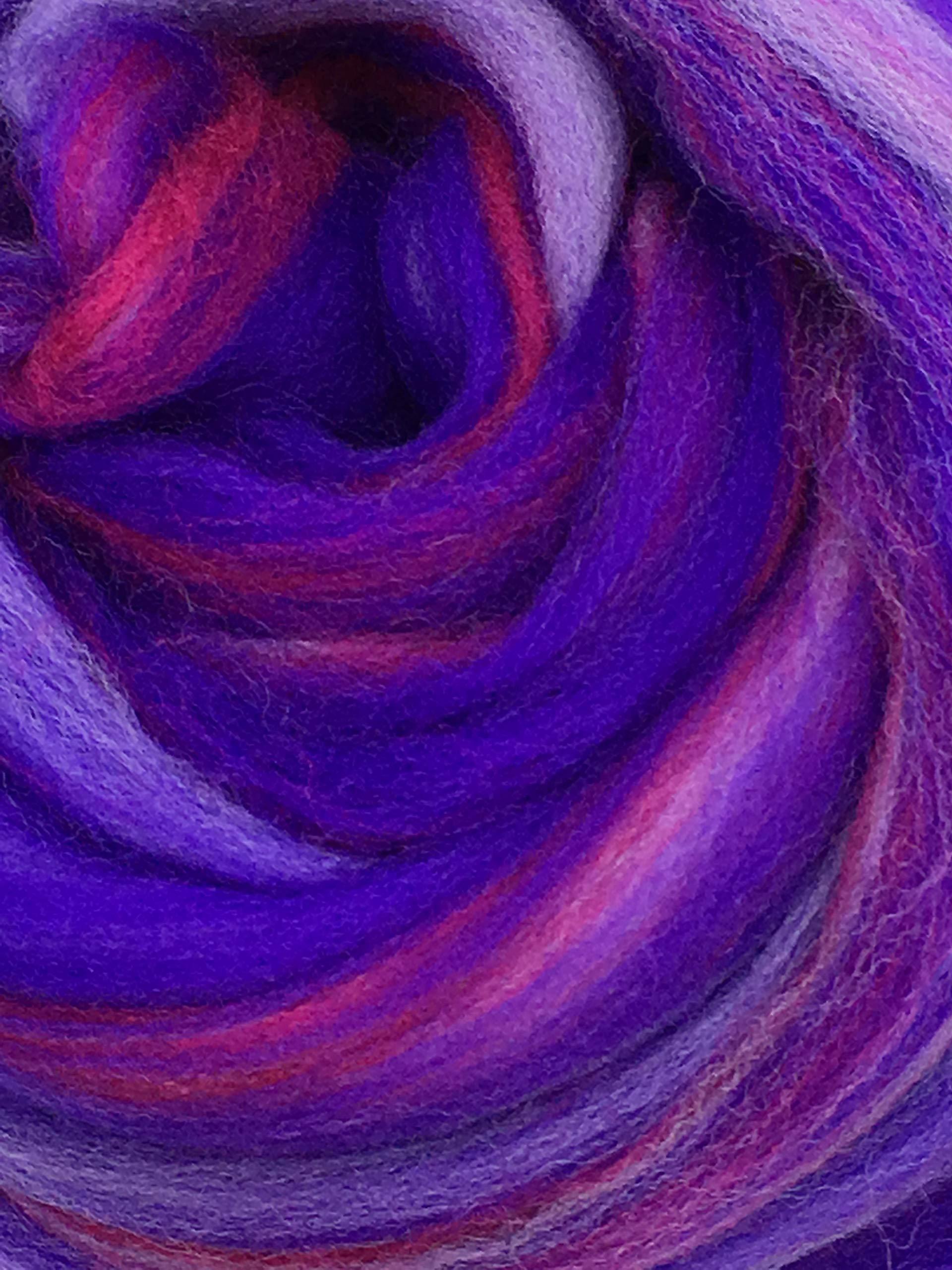 Shep's Wild Berry Merino Wool Top Roving Fiber Spinning, Felting Crafts USA (4lb)