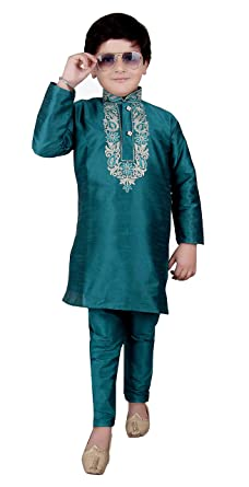 b8d08467aed97 Boys Raw Silk kurta with pajama for EID & Bollywood PARTY kids Outfit  London 919 (