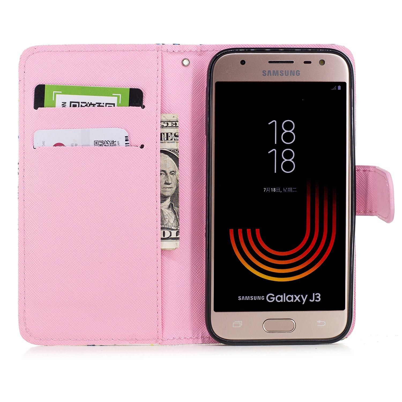 Slynmax Housse Coque Samsung Galaxy J3 2017 Peint Mode Cool Motif Case Motif