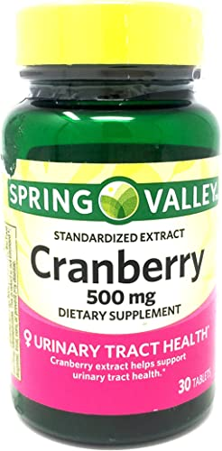 Spring Valley Standardized Extract Cranberry, 500 Mg, 30 Tablets