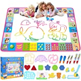 Water Doodle Mat - Kids Painting Writing Doodle Toy Board - Color Doodle Drawing Mat Bring Magic Pens Educational Toys for Ag