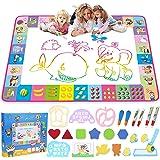 Aqua Magic Mat - Kids Painting Writing Doodle Board Toy - Color Doodle Drawing Mat Bring Magic Pens Educational Toys for…