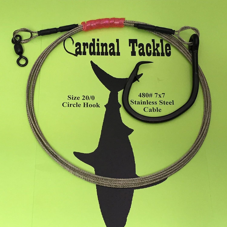 Shark Rig 480# Cable 20//0 Circle Hook