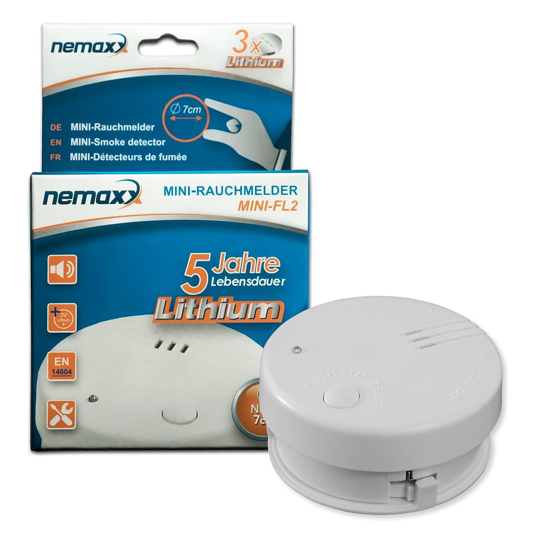 Nemaxx Mini-FL2 - Detector de humo, 1 unidad (certificado EN 14604): Amazon.es: Bricolaje y herramientas