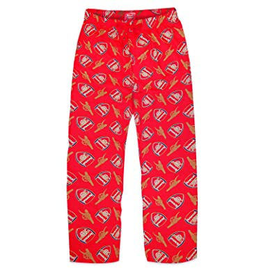 Arsenal FC Official Football Gift Mens Lounge Pants Pajama Bottoms Red Small