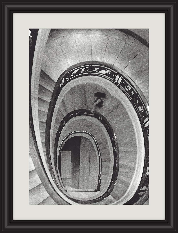 Fotografía en blanco y negro. Mujer y escalera. Clásica, vintage: Amazon.es: Handmade