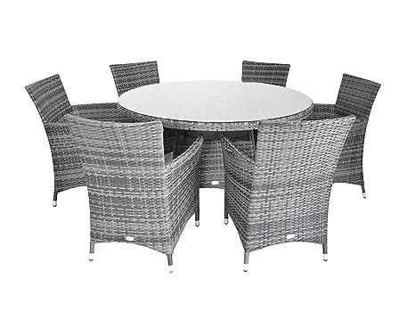 Sedie In Rattan Da Interno : Lusso figari rattan set da pranzo per tavolo rotondo 135 cm da 6 6
