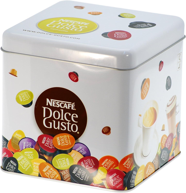 Nescafé Dolce Gusto Caja de metal para 20 Cápsulas: Amazon.es ...