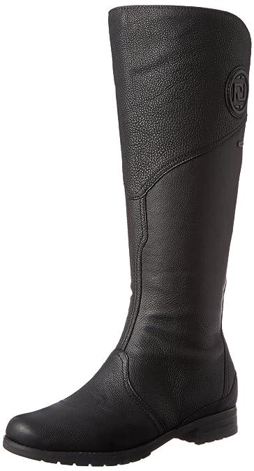 Rockport Women's Tristina Gore Tall Waterproof Boot - Wide Calf Black -  Extended Shaft Boot 5