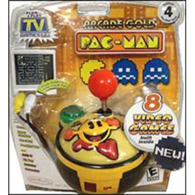 PAC-MAN Gold Edition #4 Namco Collection of 8 Classic Arcade Games - Plug it in & Play!: Toys & Games