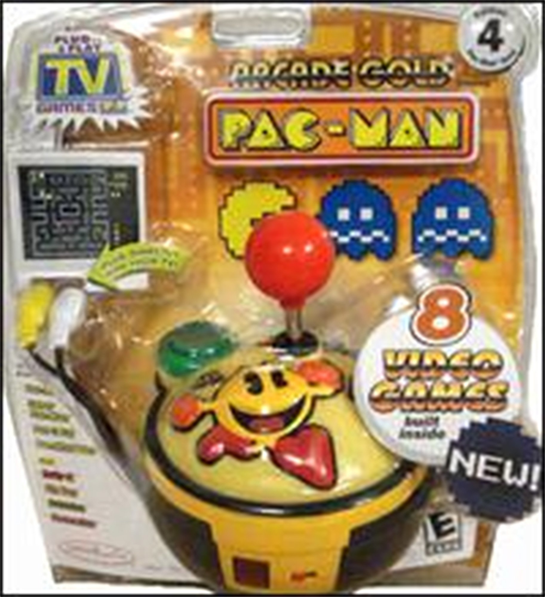 PAC-MAN Gold Edition #4 Namco Collection of 8 Classic Arcade Games - Plug it in & Play! by Namco