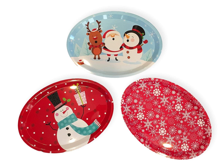 Christmas Tableware Ceramic Santa /& Friends Large Oval Serving Plate Platter