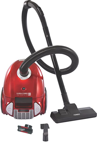 Eureka Forbes Trendy Zip+ 2-Litre Canister Vacuum Cleaner (Red/Silver)