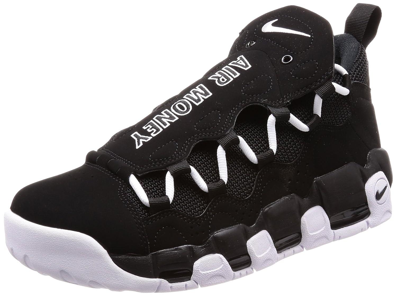 Nike Mens Air More Money Leather Platform Athletic Shoes Black 12 Medium D
