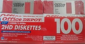Office Depot 3.5 inch Bulk Floppy Diskettes, IBM Format, DS/HD, Rainbow, 100 Pack
