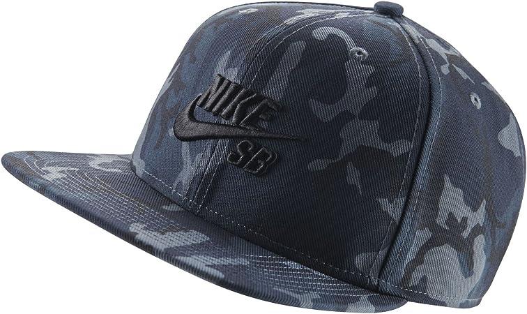 recurso renovable Inquieto Tentación  Nike Men 's SB Camuflaje Gorra, Armería Azul/Negro: Amazon.es: Deportes y  aire libre