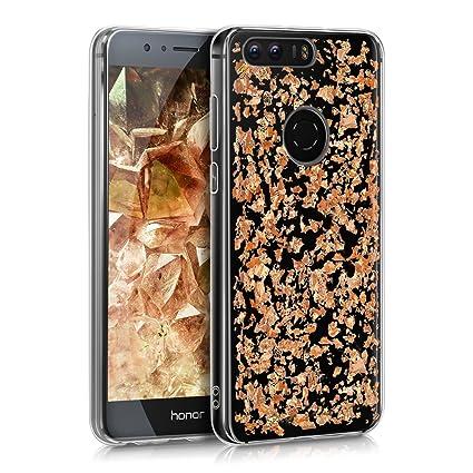 nuovo stile a057a 80a5e kwmobile Cover per Huawei Honor 8 / Honor 8 Premium - Custodia in TPU  Silicone per Cellulare Huawei Honor 8 / Honor 8 Premium - Oro  Rosa/Trasparente