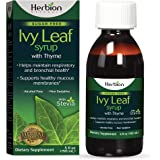 Herbion Naturals Ivy Leaf Syrup with Thyme and Licorice, 5 fl oz- Helps Maintain Respiratory and Bronchial Health, Supports Healthy Mucous Membranes, Effective for Adults and Children