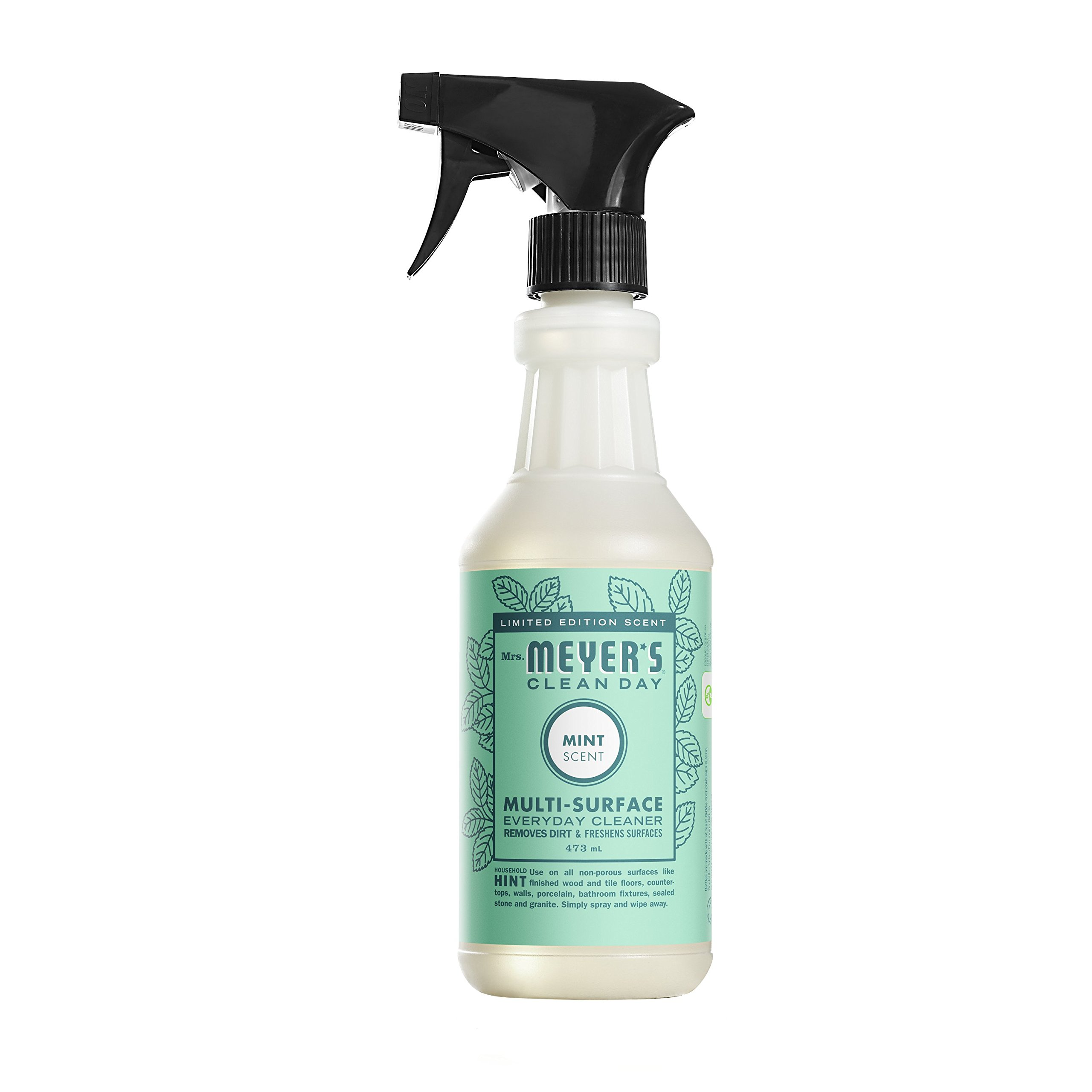 Mrs. Meyer's Clean Day Mint Multi-Surface Everyday Cleaner, 16 Fluid Ounce (Pack of 6)