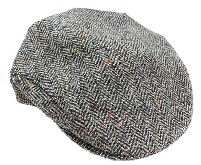 14b446892f8 Mucros Weavers Men s Irish Flat Cap Wool Grey Herringbone Made in Ireland