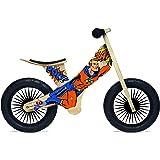 Kinderfeets Retro Wooden Balance Bike, Superhero