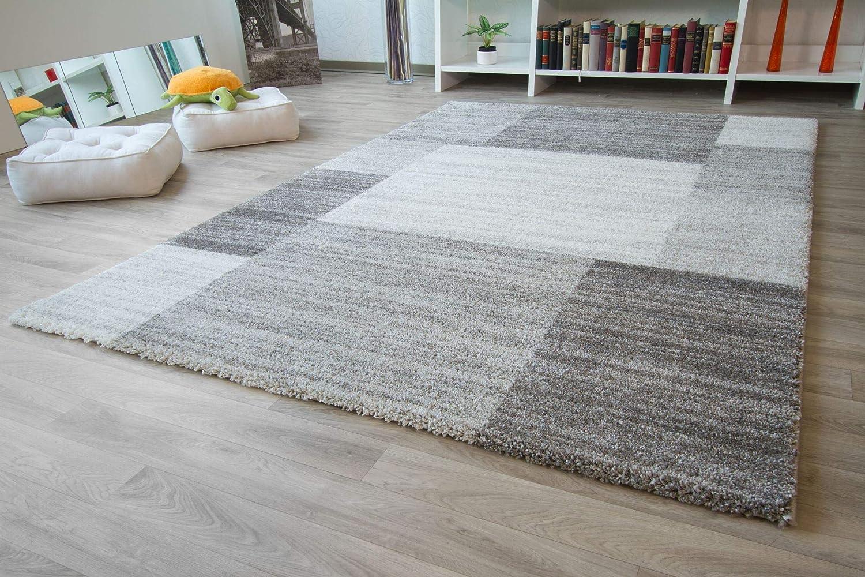 Designer Designer Designer Teppich Modern Nancy in Creme hellblau, Größe  135x190 cm B01M7OUCM6 Teppiche 7333e3
