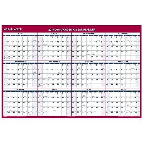 amazon com at a glance yearly calendar academic regular year