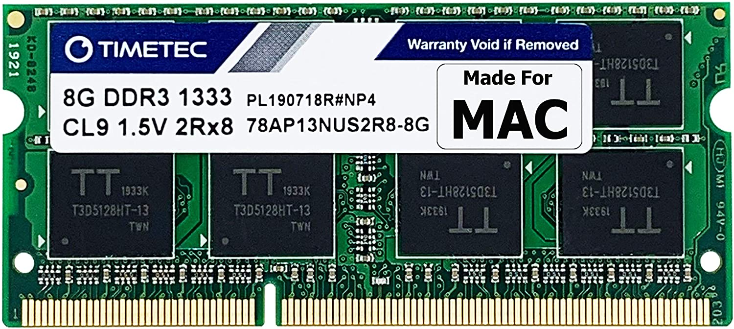Timetec Hynix IC 8GB Compatible for Apple DDR3 1333MHz PC3-10600 for MacBook Pro (Early/Late 2011 13/15/17 inch), iMac (Mid 2010, Mid/Late 2011 21.5/27 inch), Mac Mini(Mid 2011) MAC SODIMM RAM Upgrade
