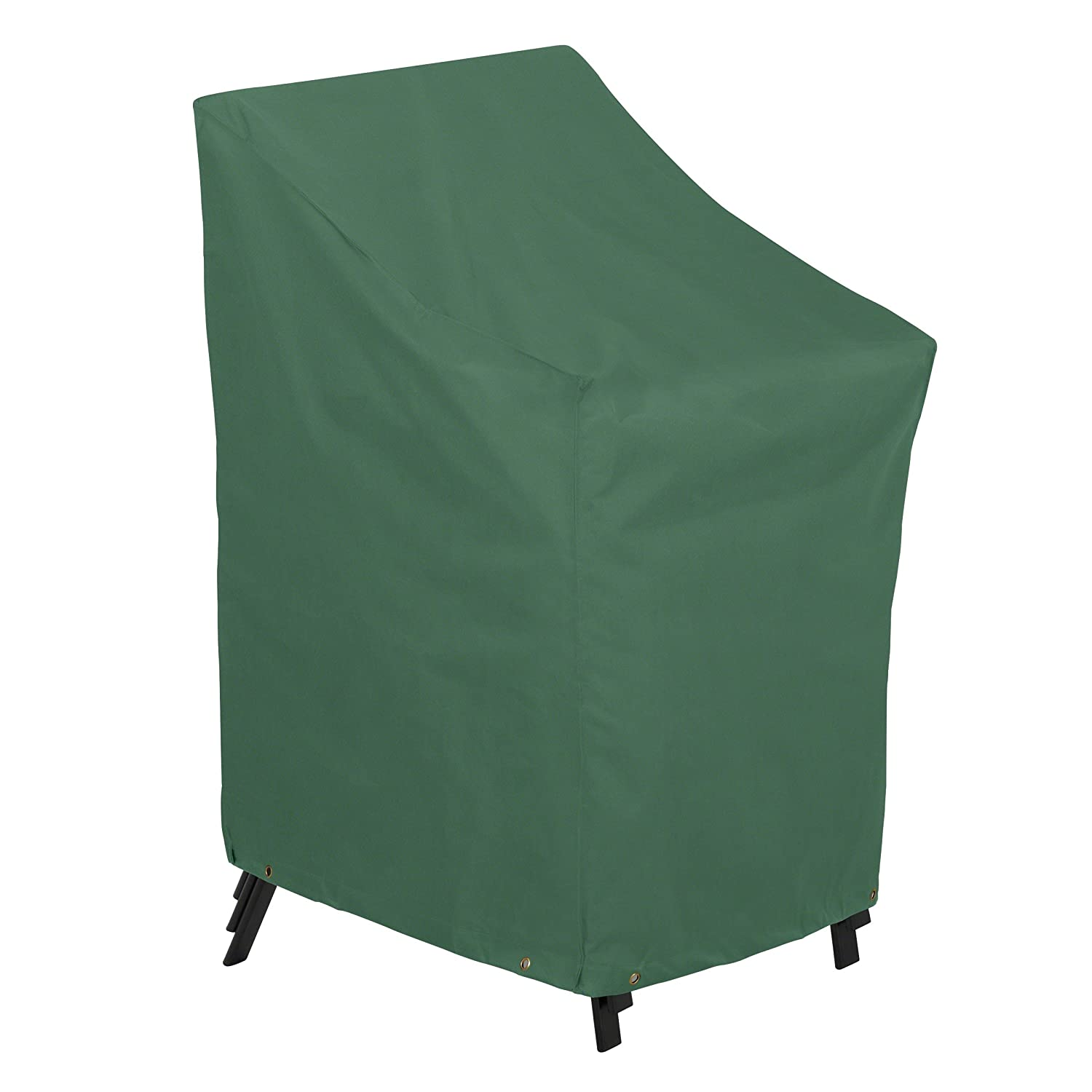 amazoncom classic accessories atrium stackable patio chairs cover resistant patio set cover with uv protection green - Stackable Patio Chairs