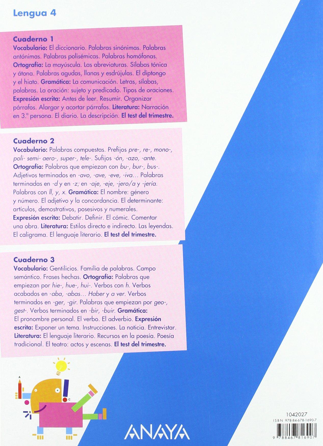 Lengua 4. Cuaderno 1. (En línea): Amazon.es: Lorena Esmorís Galán, Sarah Martín López: Libros