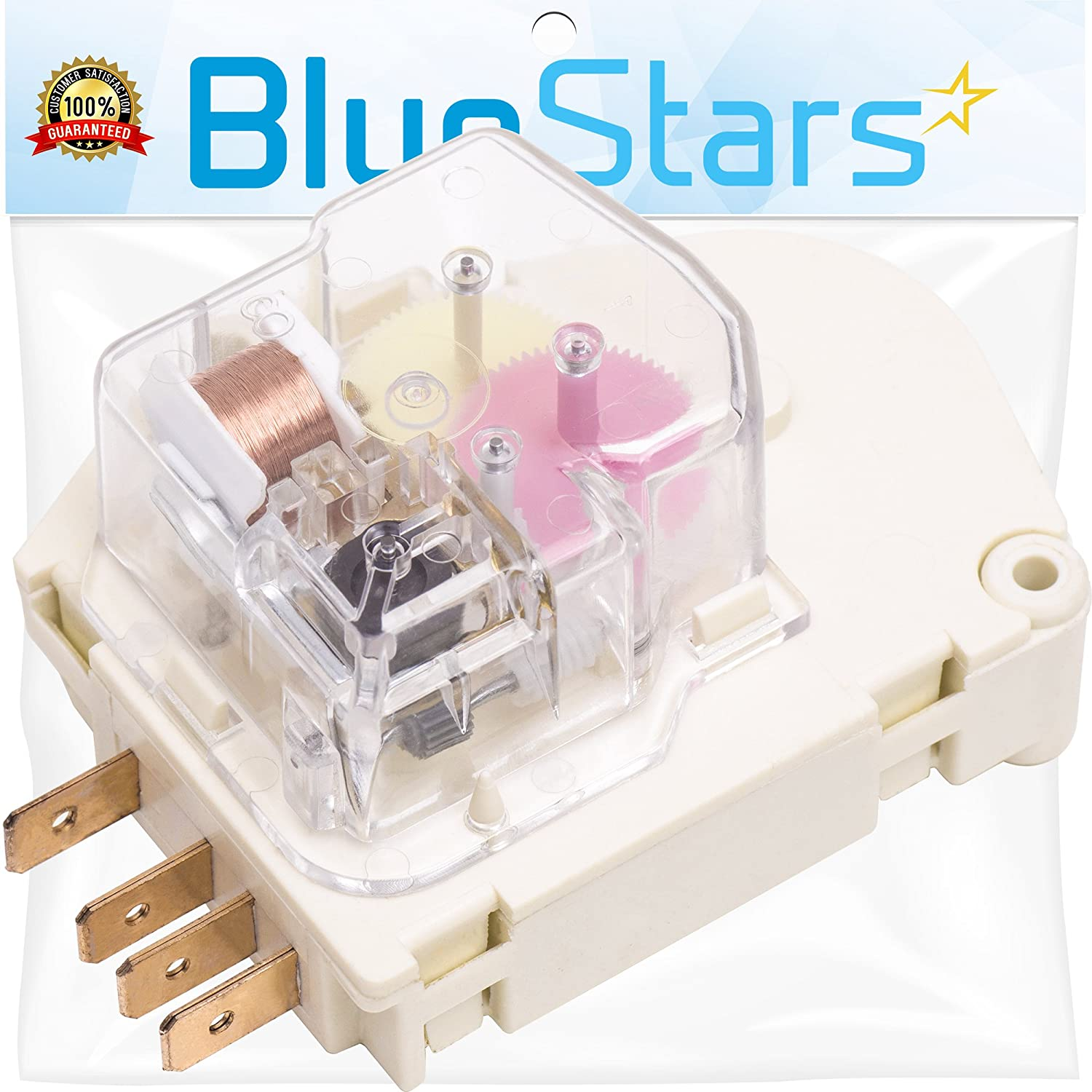 Ultra Durable 215846602 Refrigerator Defrost Timer Replacement Part by Blue Stars – Exact Fit For Frigidaire & Kenmore Refrigerators – Replaces 215846606 240371001 241621501 AP2111929 PS423801