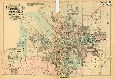 Amazoncom Atlas of the City of Syracuse NY and Suburbs Syracuse