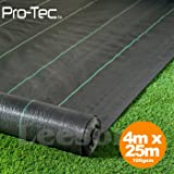 4m x 25m wide 100gsm weed control fabric garden landscape ground cover membrane