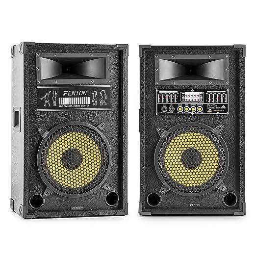 3 opinioni per Skytec SPA1200Y Coppia casse acustiche diffusori PA (1200 Watt MAX, Woofer 30