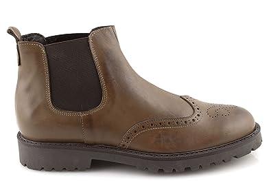 Damalu Boots Noir Cuir Hiver Beatles Chaussures Bottine Homme xCBode