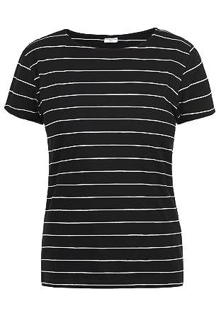 92991e16517941 ONLY AVA Damen T-Shirt Kurzarm Streifenshirt Shirt Mit Rundhalsausschnitt   Amazon.de  Bekleidung