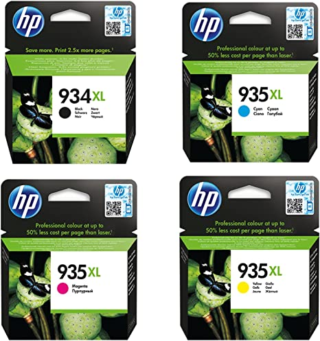 Black, Cyan, Magenta, Yellow, 4-Pack LD Remanufactured Ink Cartridge Replacement for HP 934XL /& HP 935XL High Yield