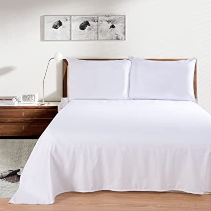 Lullabi Linen 100% Brushed Soft Microfiber Bed Sheet Set, Fitted U0026 Flat  Sheet U0026
