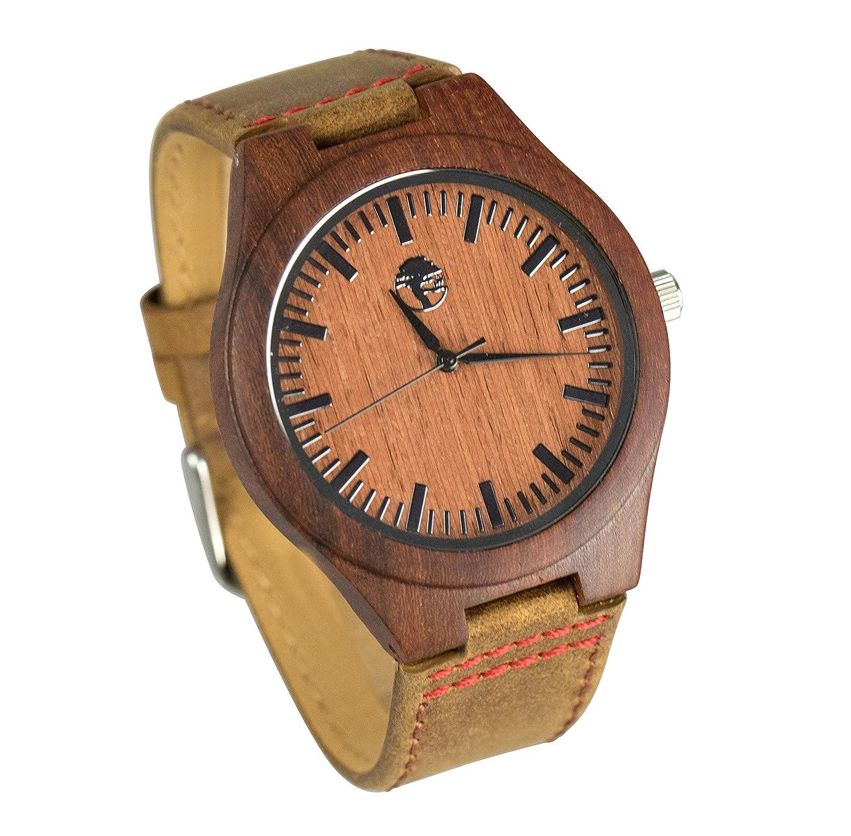 46647495d18f Amazon.com  Viable Harvest Men s Wood Watch Rugged Man Series ...