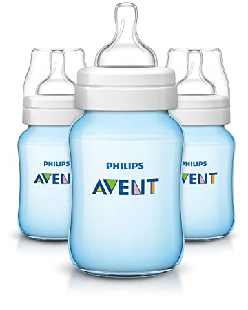 3 Wide Neck Bottles Philips Avent Anti Colic Bottle BPA Free 9 Oz Colors Vary