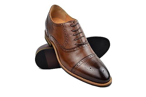 1d61d853 ZERIMAR Zapatos con Alzas Interiores para Hombres Aumento 7 cm | Zapatos de  Hombre con Alzas Que Aumentan Su Altura | Zapatos Hombre Oxford: Amazon.es:  ...