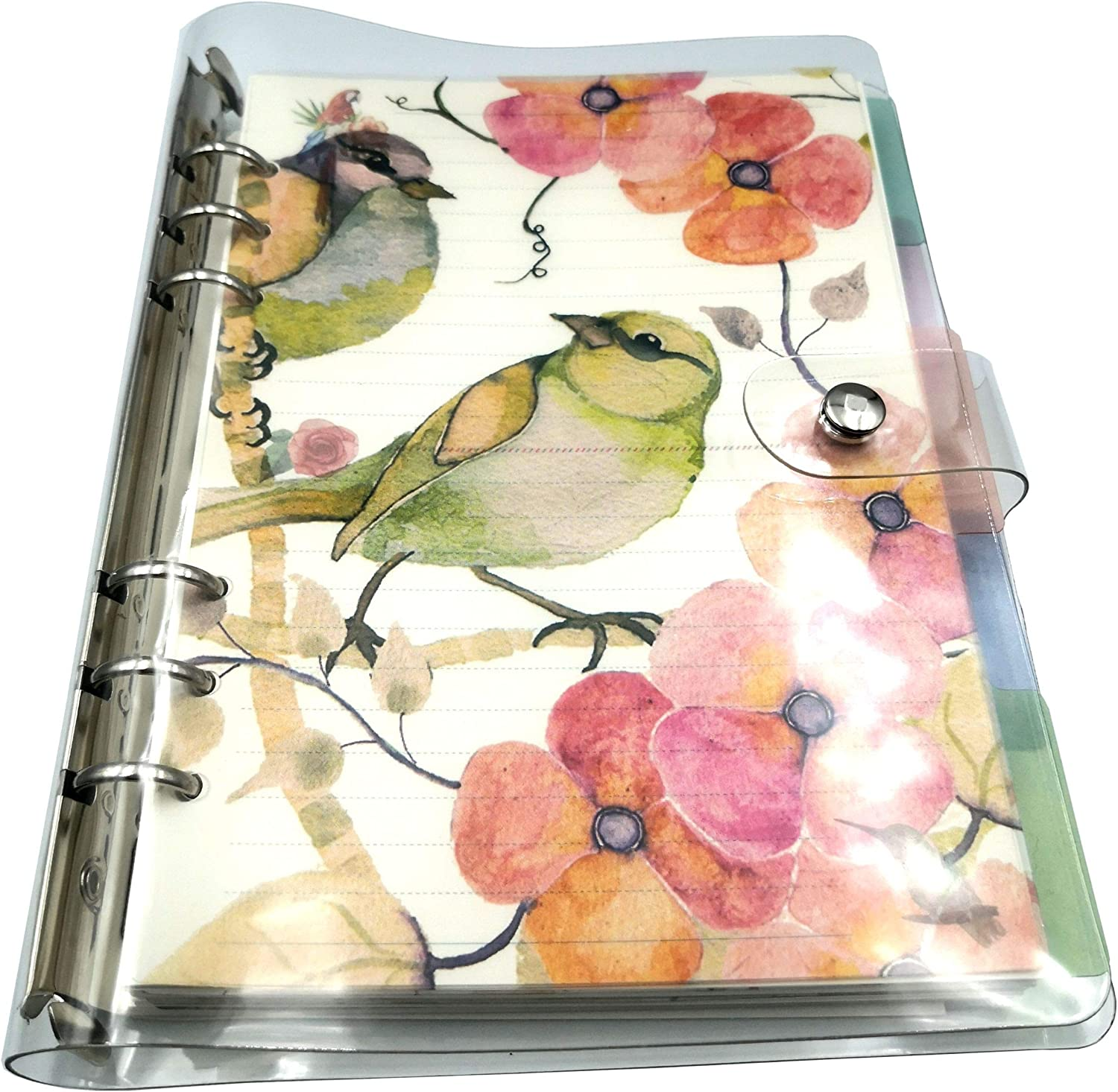 Zplanz A5 Planner Binder 2020 Calendar Daily Refillable - A5 Planner Dividers, Hourly Appointment Pages - Clear Ringed A5 6 Ring Binder Planner Organizer Loose Leaf Journal Compact Ring Bound Planner