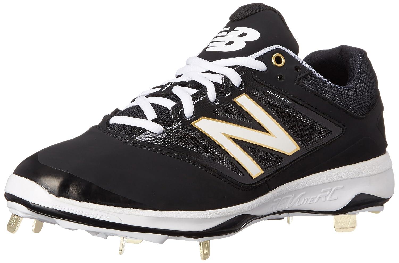 New Balance Men's L4040V3 Cleat Baseball Shoe B00SJ5RJHA 15 2E US|Black/Black